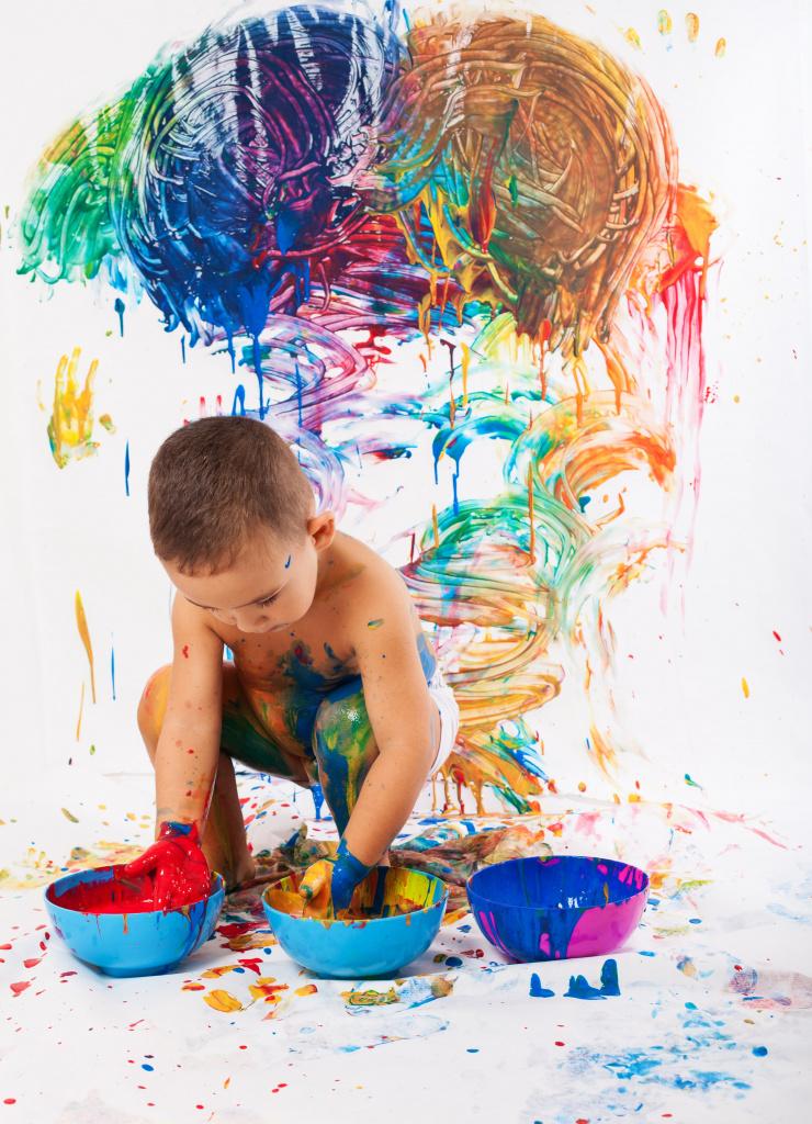 любовью краски для малышей картинки это каменный цветник